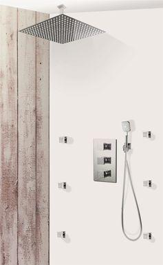 Colonne de douche encastrable plafond et carr e lock 50 - Douche encastrable plafond ...