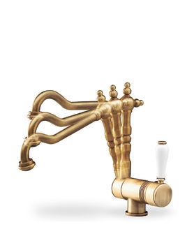 m langeur de cuisine mural pour vier bec mobile r tro vieux bronze sarodis. Black Bedroom Furniture Sets. Home Design Ideas