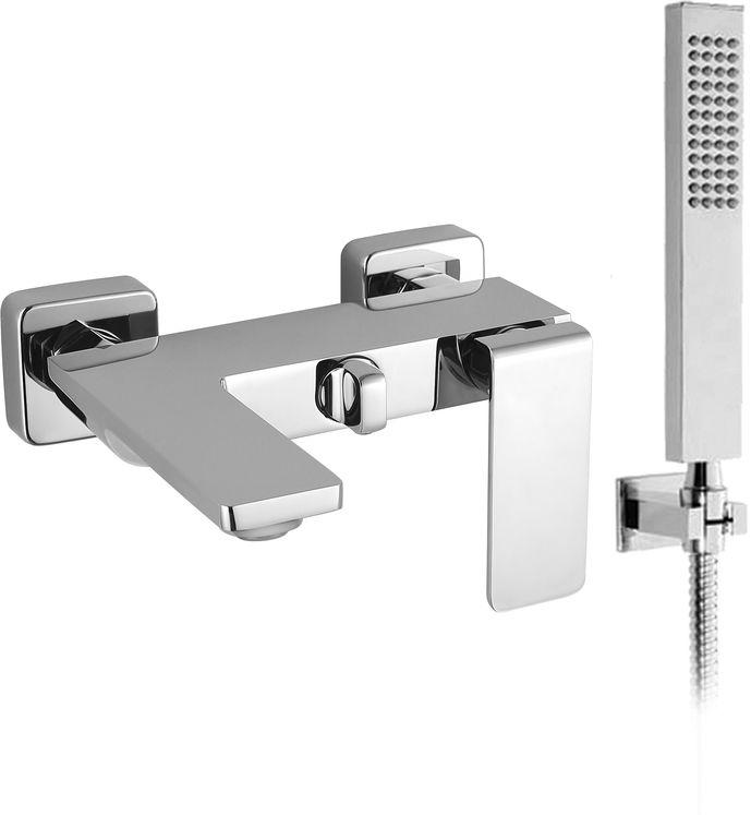 Mitigeur de baignoire mural carré MOVE avec duplex | Sarodis