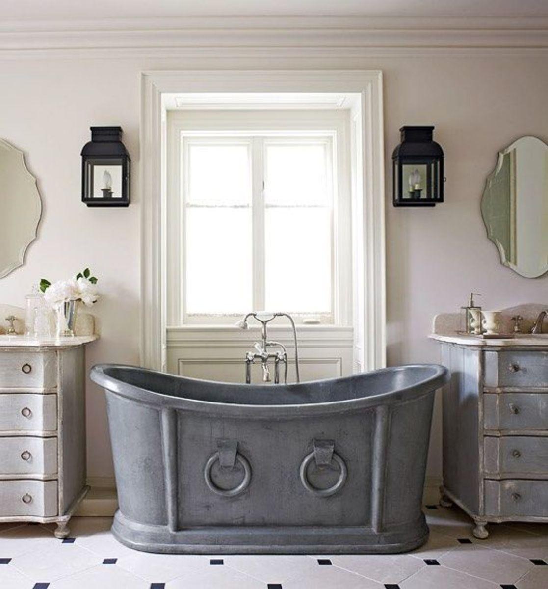 Salle de bain esprit rétro | Sarodis