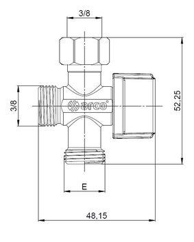 robinet d arr t 2 sorties pour alimentation r servoir wc. Black Bedroom Furniture Sets. Home Design Ideas