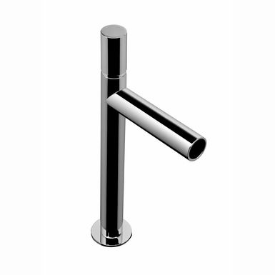 mitigeur lavabo haut chrom avec bec cascade tube sarodis. Black Bedroom Furniture Sets. Home Design Ideas
