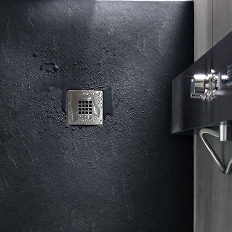 receveur de douche extra plat en r sine texture pierre 100x160cm paisseur 28mm anthracite. Black Bedroom Furniture Sets. Home Design Ideas