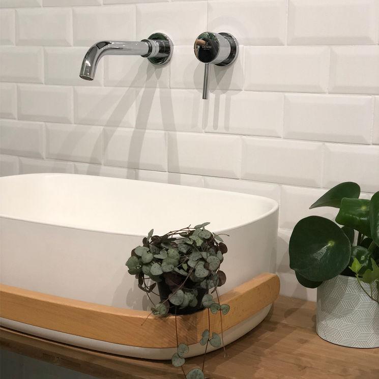 Mitigeur lavabo chromé encastrable, laiton, LOTO