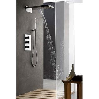 colonne de douche encastrable murale et cascade compl te avec thermostatique 3 fonctions. Black Bedroom Furniture Sets. Home Design Ideas