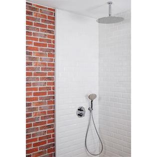 colonne de douche encastrable plafond et ronde compl te avec thermostatique 2 fonctions savona. Black Bedroom Furniture Sets. Home Design Ideas