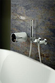 mitigeur de baignoire 4 trous encastrable bec mural cascade tube sarodis. Black Bedroom Furniture Sets. Home Design Ideas