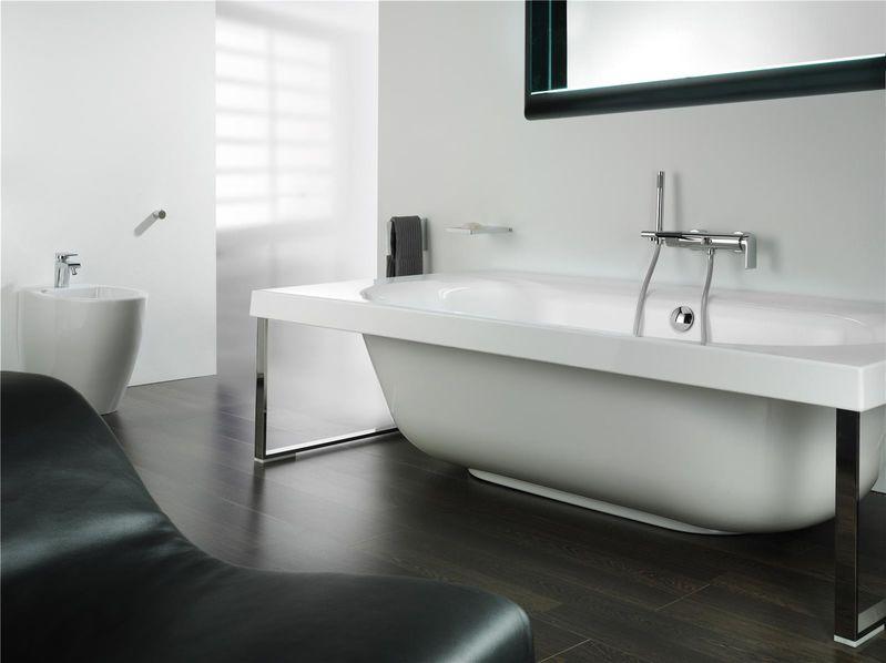 Mitigeur bain douche mural rond avec douchette for Douchette baignoire
