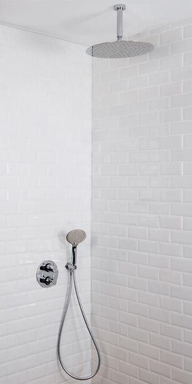 Colonne De Douche Encastrable Plafond Et Ronde MISY, Complète Avec Mitigeur  Thermostatique 2 Fonctions Et