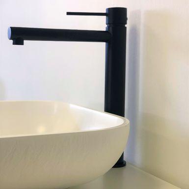 Mitigeur lavabo haut, robinet salle de bain noir, TRENTO ...