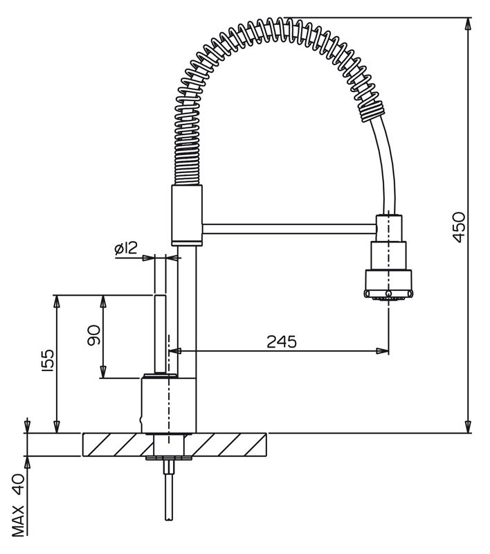 Mitigeur douchette cuisine design d 39 int rieur et id es de meubles Mitigeur cuisine retro avec douchette