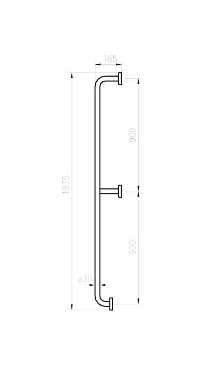 barre de s curit verticale fixation murale sarodis. Black Bedroom Furniture Sets. Home Design Ideas