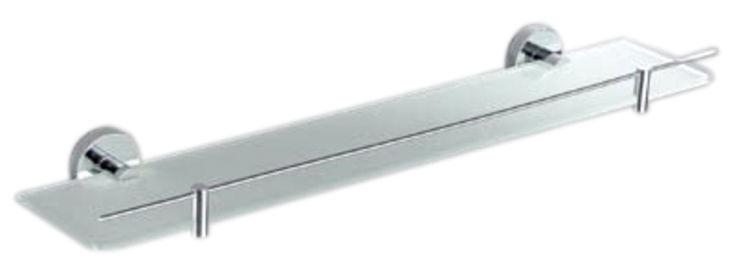 Tablette en verre opaque, murale ronde, PENTAS, longueur 60 cm | Sarodis