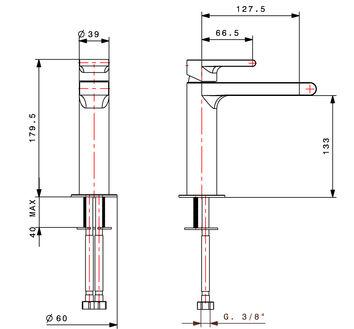 mitigeur lavabo monotrou chrom bonny. Black Bedroom Furniture Sets. Home Design Ideas