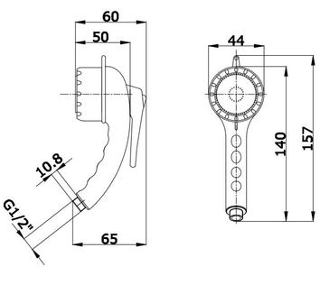 douchette main gachette 1 jet et support sarodis. Black Bedroom Furniture Sets. Home Design Ideas