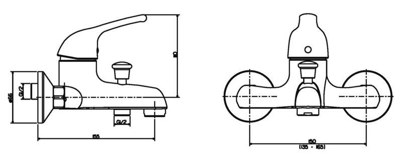 mitigeur baignoire mural. Black Bedroom Furniture Sets. Home Design Ideas