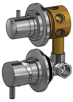 Mitigeur pour cabine de douche avec inverseur cinq fonctions - Mitigeur inverseur douche ...