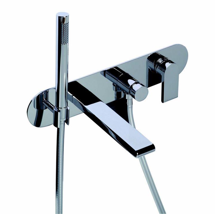 mitigeur bain douche encastrable rond avec plaque et. Black Bedroom Furniture Sets. Home Design Ideas