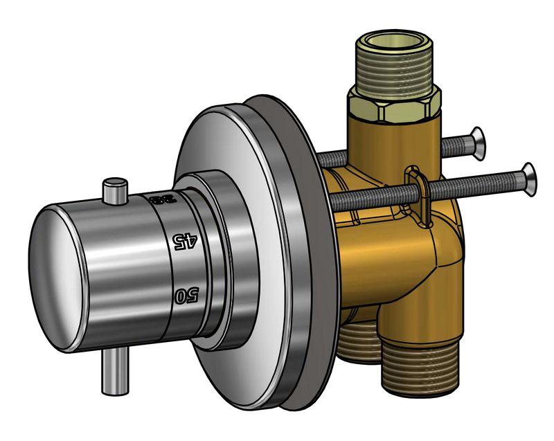 Mitigeur thermostatique chrom pour cabine de douche - Reparer un mitigeur de douche ...