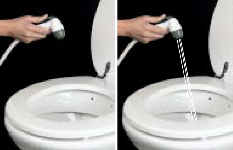 cuvette wc avec douchette affordable multiusages sus en acier inoxydable douchette bidet post. Black Bedroom Furniture Sets. Home Design Ideas
