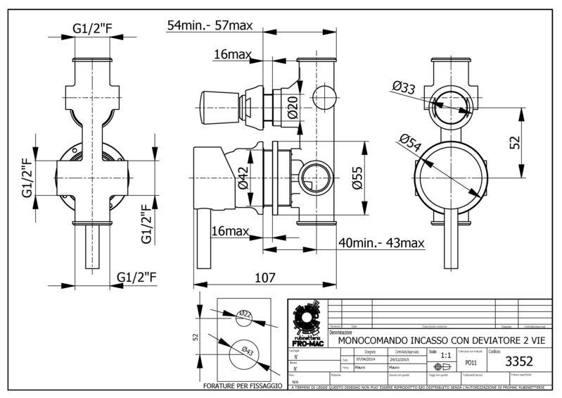 Mitigeur pour cabine de douche avec inverseur deux fonctions - Mitigeur pour cabine de douche ...