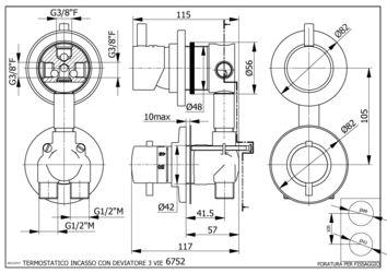 robinet mitigeur thermostatique pour cabine de douche avec inverseur trois fonctions. Black Bedroom Furniture Sets. Home Design Ideas
