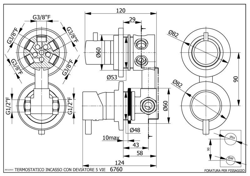 Mitigeur pour cabine de douche avec inverseur cinq fonctions - Mitigeur pour cabine de douche ...