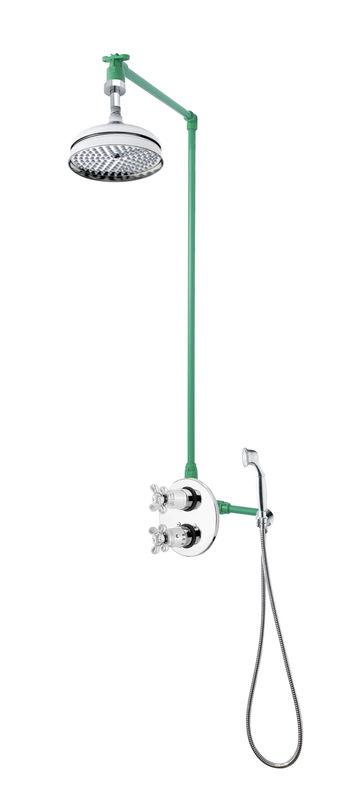 colonne de douche plafond encastrable plafond et rond r tro compl te avec mi. Black Bedroom Furniture Sets. Home Design Ideas