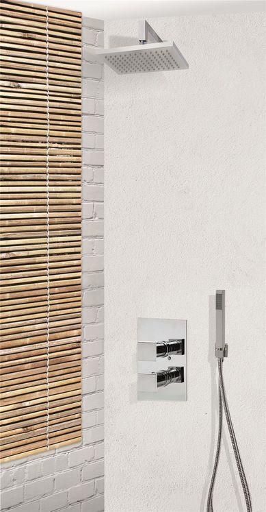 colonne de douche encastrable murale et carr e compl te avec thermostatique 2 fonctions novara. Black Bedroom Furniture Sets. Home Design Ideas