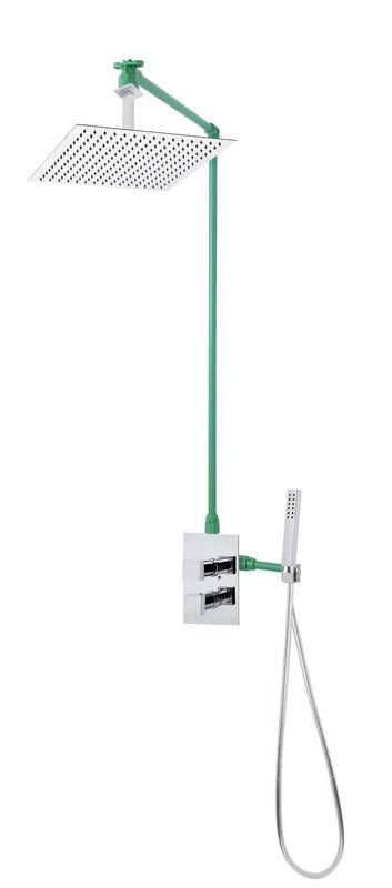 colonne de douche encastr e plafond et carr e lock 50 compl te avec mitigeur thermostatique 2. Black Bedroom Furniture Sets. Home Design Ideas