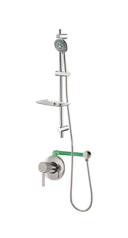 colonne de douche encastr e loto compl te avec mitigeur 1 fonction tuyauterie torino sarodis. Black Bedroom Furniture Sets. Home Design Ideas