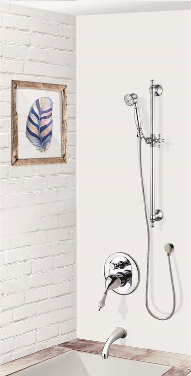 colonne bain douche encastrable murale et r tro compl te avec mitigeur 2 fonctions cuneo sarodis. Black Bedroom Furniture Sets. Home Design Ideas