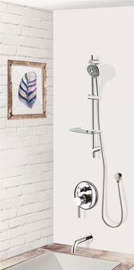 colonne bain douche encastrable murale et ronde compl te avec mitigeur 2 fonctions bergamo. Black Bedroom Furniture Sets. Home Design Ideas
