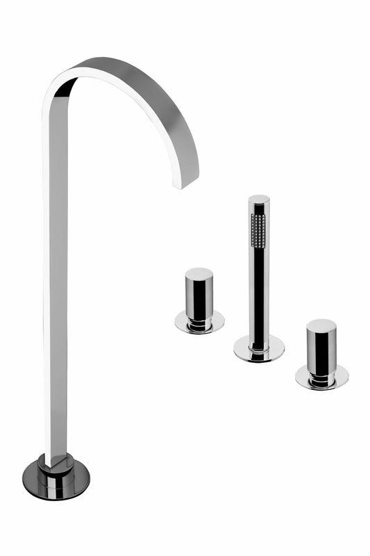 mitigeur de baignoire sur plan bec alimentation par le sol arco sarodis. Black Bedroom Furniture Sets. Home Design Ideas